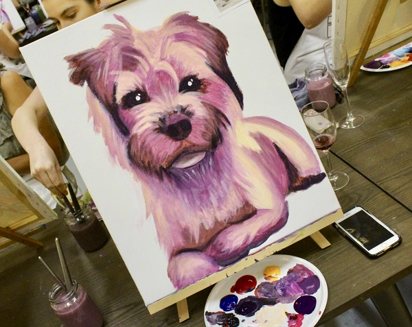 Image of painting of dog