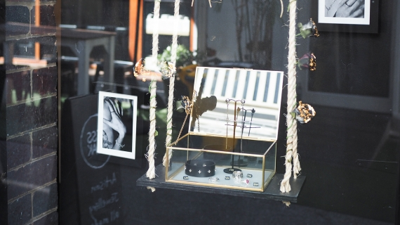 Jewellery at Jess Blak's Fortitude Valley store